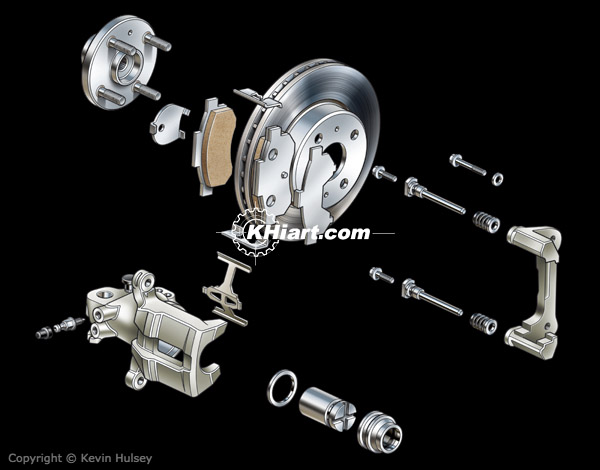 Car disc brake components