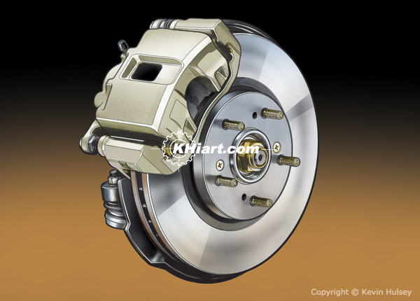 Car front disc brake assembly