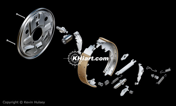 Car drum brake components