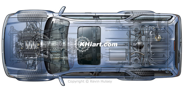 Top view of generic SUV illustration