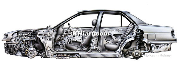 Nissan Sentra section view